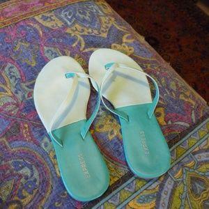 Aqua Turquoise Thong Flip flop Sandals